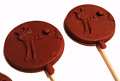 Golf Chocolate Lolly